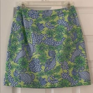 Lilly Pulitzer Seafood Salad skirt size 2